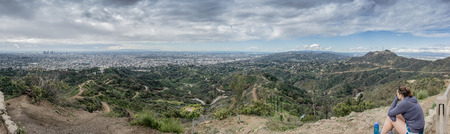 griffith: Looking out over Los Angeles from the top of a hike from the Griffith Observatory