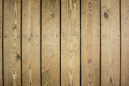 Wooden boards on an outdoor deck Stock Photo