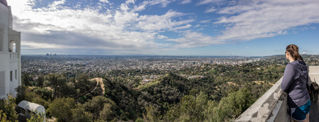sprawl: The hills near LA provide a spectacular view of the sprawling city