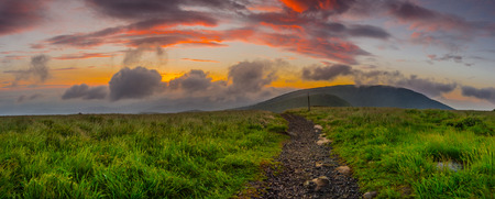 roan: Morning sun lights the clouds in the Roan Mountain highlands