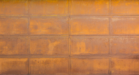 oxidize: A rusted steel background with rectangle pattern