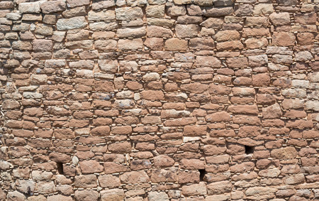 national monument: Intricate rock wall background from Hovenweep National Monument Stock Photo