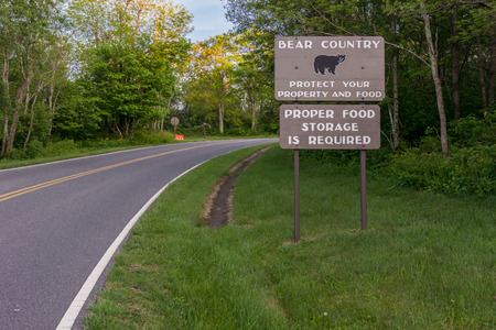 prevalent: A reminder to campers that black bears are prevalent in Shenandoah National Park