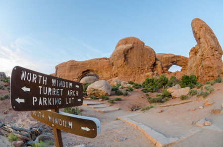 north window arch: Fisheye view of the North and South Windows in Arches National Park
