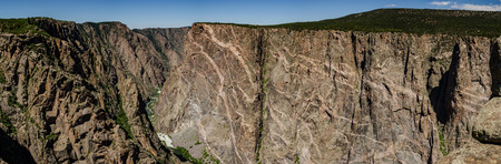 painted wall: The Gunnison River cuts below the canyon near the Painted Wall in Black Canyon of the Gunnison National Park