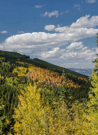 Fall settles in across the mountains of Colorado, turning aspens golden and orange