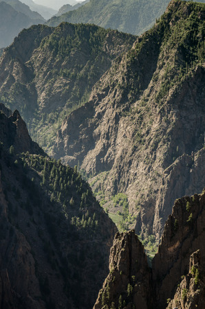 jagged: The Gunnison River cuts through jagged cliffs to form Black Canyon of the Gunnison