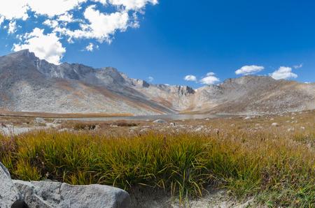 mount evans: A lake high in the Colorado mountains Stock Photo