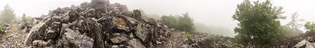 blackrock: A pile of rocks marks the peak of Blackrock Mountain along the Appalachian Trail