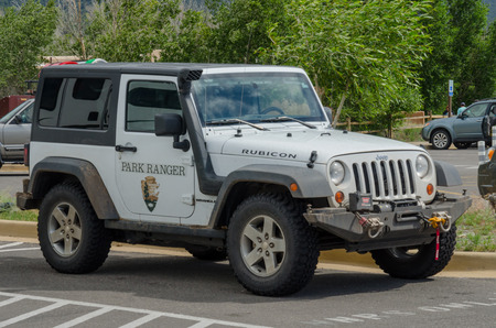 wench: Alamosa, United States: July 6th, 2015: Park rangers patrol national park grouns using all terrain vehicles Editorial