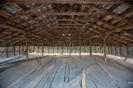 great smoky national park: Old Wooden Barn loft in a historic building in the Cataloochee Valley Stock Photo