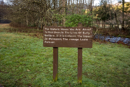 harm: Do no harm sign protects historic sites in the Great Smoky Mountains national park
