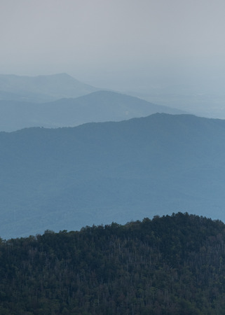 great smoky mountains: Layers of Foggy Ridges in Sounthern Appalachian Mountains in the Great Smoky Mountains National Park