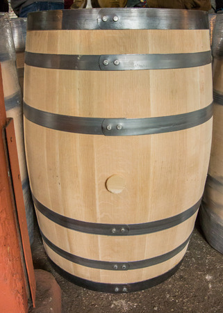 bourbon: Unused bourbon barrel before being filled with bourbon for aging Stock Photo