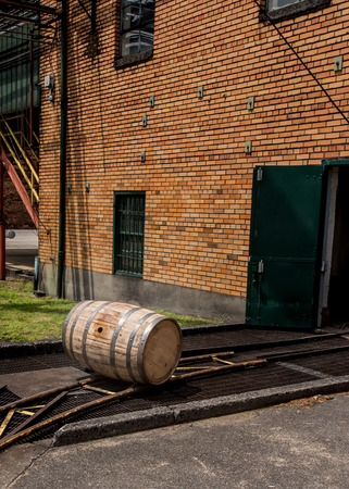 Barrel Rolls Out of Building on track