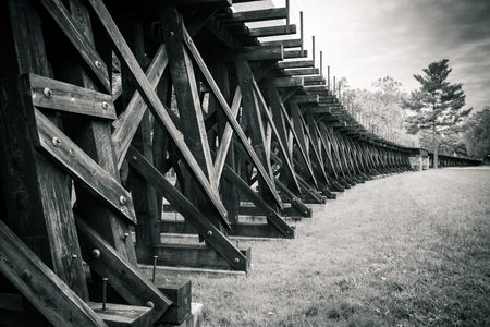 trestle: Trestle and Field Black and White over field