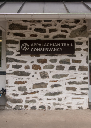appalachian: Harpers Ferry, United States: May 19, 2016: Appalachian Trail Conservancy Sign in historic Harpers Ferry Editorial