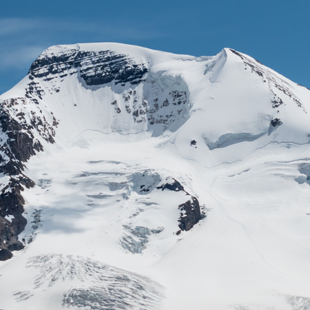 avalanche: Cracks in the Snowfield give signs of a recent Avalanche