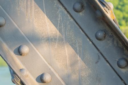 beam: Metal Support Beam on Bridge cutting across image diagonally