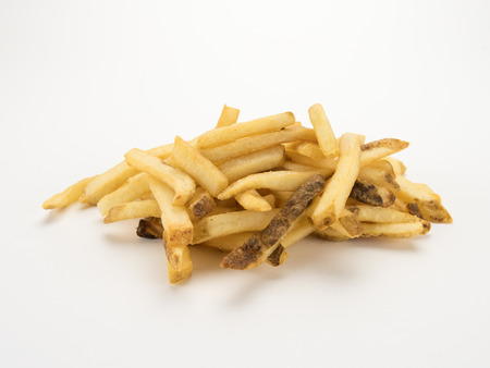 French Fries on White Isolated Image