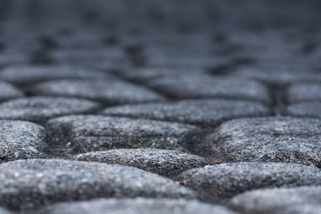 low angle: Cobble Stone Texture Low Angle with selective focus Stock Photo