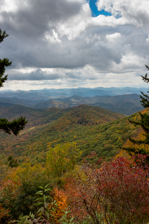 appalachian: Light Streams Over Endless Appalachian Mountains in autumn