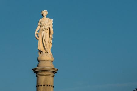 gettysburg: Statue on the Soldiers National Monument in Gettysburg Pennsylvaniea Stock Photo