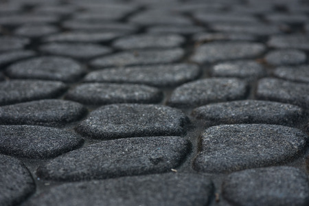 low angle: Cobble Stone Pavement using a low angle perspective Stock Photo