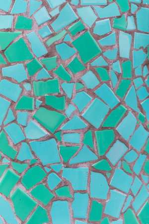 varying: Teal Mosaic Tile Texture in Varying Shades