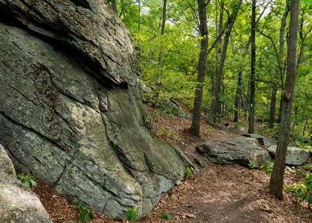 appalachian: Appalachian Trail Edges along Rock Formation in rocky Pennsylvania