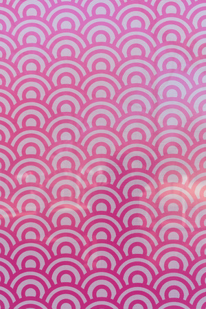 Field of Pink and White Circles Window Decal covering image Stock Photo