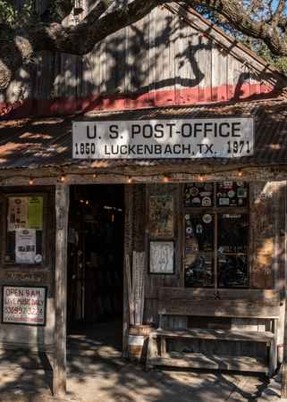 usps: Luckenbach, United States: January 19, 2017: Luckenbach Texas Post Office
