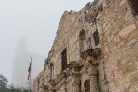 Close Up of the Alamo in The Morning Fog Reklamní fotografie