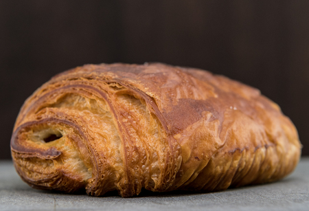 Diagonal View of Chocolate Croissant
