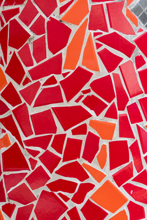Red and Orange Mosaic Tile Texture background