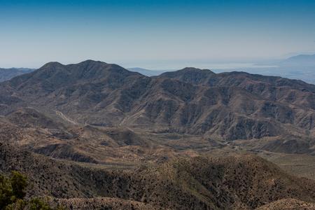 Bare Mountain Landscape in Joshua Tree desert Stock Photo