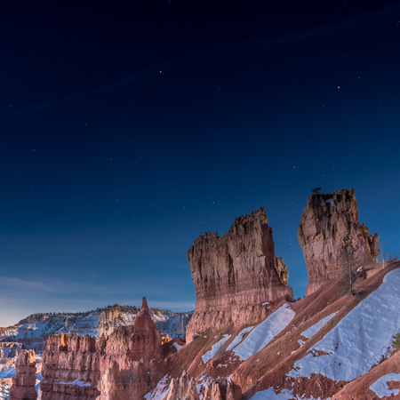 Last Stars Before Morning in Bryce Stock Photo