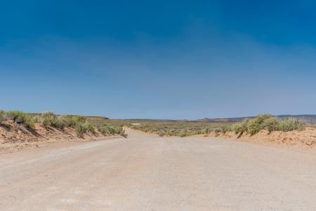 Low Angle of Dirt Road in Utah Wilderness