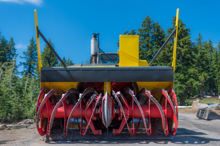 industrial park: Low Angle View of Snow Blower Blades