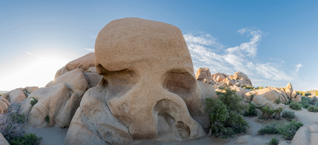 joshua tree national park: Skull Rock Panorama in Joshua Tree Wilderness