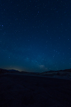 Starry Night Over Death Valley Vertical Image