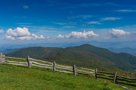 The Southern Appalachian Mountains from Hemphill Bald