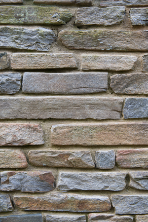 Stacked Flag Stone Wall Vertical Background Image