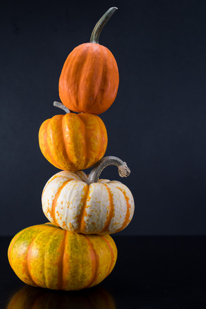 Leaning Tower of Pumpkins Stock Photo