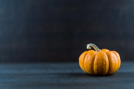 Texture of Jack Be Little Pumpkin on Dark Background