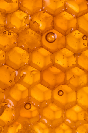 Bubbles in Honey Comb with backlighting vertical image
