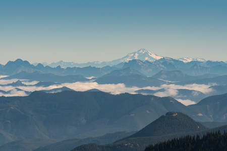 View of Clouds Settling In From Mt Fremont in Mount Rainier