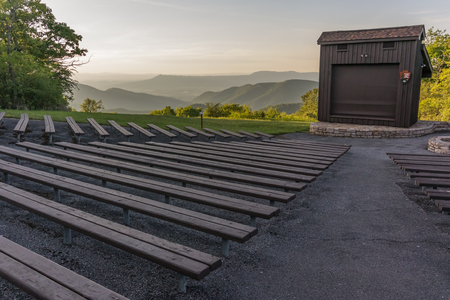 An amphitheater in the campground of a national park provides a place for programming