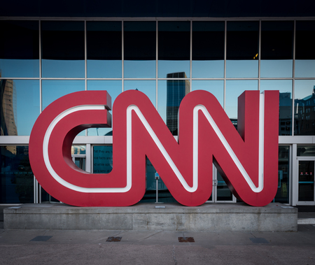 March 3, 2017: Atlanta, United States: CNN Logo at Headquarters 스톡 콘텐츠 - 101535468