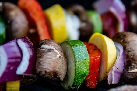 Zucchini And Other Vegetables Grilling on outdoor grill